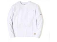 スマートスパイス メンズ スラブクルーネックポケットTシャツ WHITE