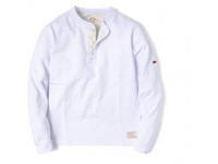 スマートスパイス メンズ スラブヘンリーネックTシャツ WHITE