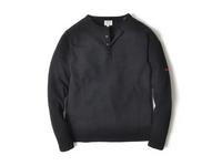 スマートスパイス メンズ サーマルヘンリーネックTシャツ BLACK