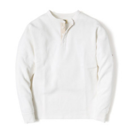 スマートスパイス メンズ サーマルヘンリーネックTシャツ WHITE