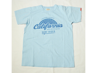 スマートスパイス CALIFORNIA SURF RIDER PRINT T-SHIRTS SAX