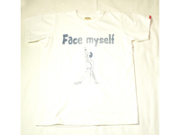 スマートスパイス FACE MYSELF PRINT TEE SHIRTS WHITE