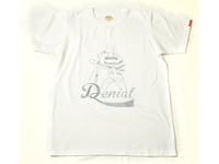 スマートスパイス DENIAL プリントTシャツ 日本製 半袖 ホワイト