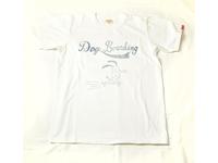 スマートスパイス DOG BOARDING プリントTシャツ 日本製 半袖 ホワイト