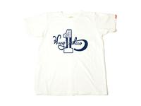 スマートスパイス HUNG IN THERE プリントTシャツ 日本製 半袖 ホワイト
