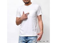 スマートスパイス 日本製 クルーネック半袖ポケットTシャツ ホワイト