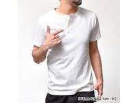 スマートスパイス 日本製 ヘンリーネック Tシャツ ホワイト