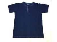 スマートスパイス 日本製 本藍染ヘンリーネックTシャツ インディゴ