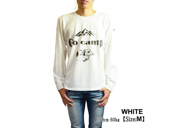 スマートスパイス GO CAMP プリント L/S Tシャツ 日本製 半袖 ホワイト