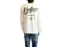 スマートスパイス VINTAGE MOTORS プリント L/S Tシャツ 日本製 半袖 ホワイト
