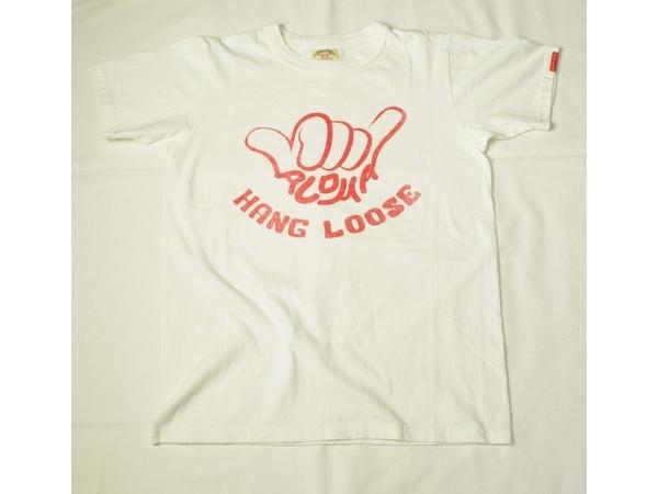 スマートスパイス メンズ プリントTシャツ HANG LOOSE  ホワイト