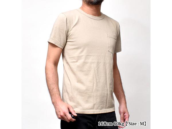スマートスパイス 日本製 クルーネック半袖ポケットTシャツ モカグリーン