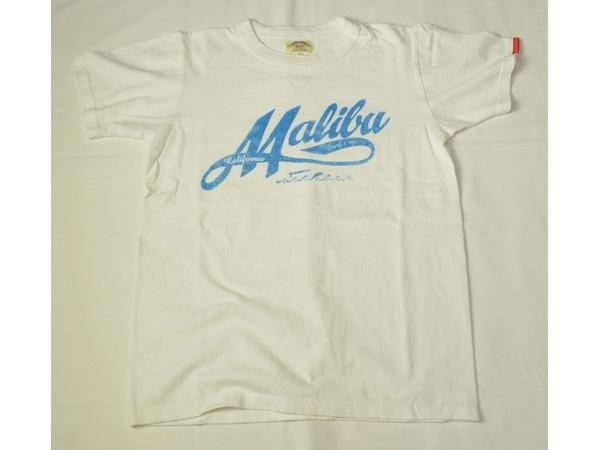 スマートスパイス メンズ プリントTシャツ MALIBU  ホワイト
